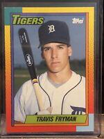 Topps 1990 #33T Travis Fryman Traded Tigers Baseball Card