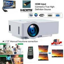 LED LCD HD Projector Home Theater Cinema 3D Video Movie AV/USB/HDMI/TF/AUDIO