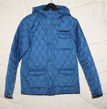 Blue Nylon CARBRINI Zip Hooded Quilted Hip Length Outwear Boys Jacket Size 10-11