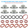 6X 33MM FOR BMW Swirl Flap Blanks Repair with Intake manifold gaskets