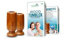 Simply Herbal  Vijaysar Diabetic Wood Tumbler (New) Free Shipping