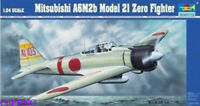 Trumpeter 02405 1/24 Mitsubishi A6M2b Model 2I Zero Fighter hot