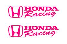 Honda Racing Decal HOT PINK Sticker Civic Accord CRX Turbo SI Auto drift decals