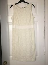 BODEN Beige Lace Embroidery Summer DRESS Sleeveless Women's WH436 8R  NWOT  $199