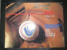 Milwaukee Brewers 1988 Team Calendar ROBIN YOUNT PAUL MOLITOR