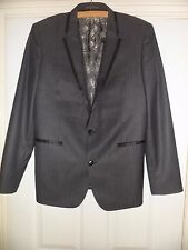"Mens Next Woolmark Charcoal Slim Fit Blazer Size 40"" Regular"