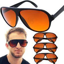 3 par Aviator azul bloqueador óculos de sol com lente ambarino