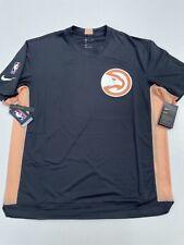 Nike Atlanta Hawks City Edition Shooter Shirt Black Peach Men's Size Large