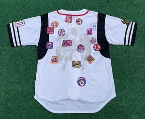 Negro Leagues Baseball Museum NLBM Mens 3XL Retro Button Front Studded Jersey