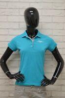Polo KAPPA Donna taglia SIze XS Maglia Maglietta Camicia Shirt Manica Corta Blu