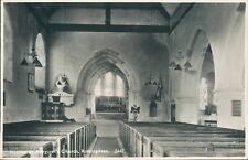 Real photo Rottingdean St margaret's church interior 1946