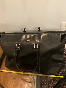 KEM BLACK LARGE TRAVEL BAG WITH SHOULDER STRAP