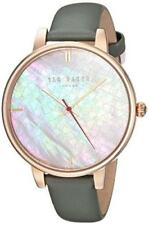 Ted Baker Kate Grey Leather Strap Rose Gold Ladies' Watch TEC0025002