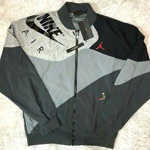 New Nike Men's Air Jordan RETRO 4 Light Weight Jacket Grey CQ8307-070 Sz S