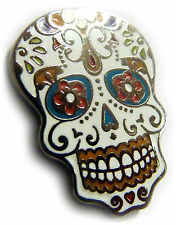 Day of the Dead All Saints Day Dia de los Muertos Sugar Skull Tie Tack Lapel Pin