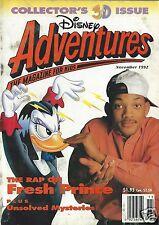 Disney Adventures Magazine November 1992 Will Smith BMX Darkwing Duck Goof Troop
