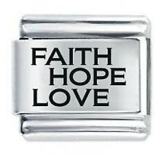 FAITH HOPE LOVE * Daisy Charm Fits Nomination Classic Italian Charm Bracelet