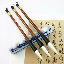 3pcs High quality Goaf hair Jian hao Chinese calligraphy brush S M L size Set