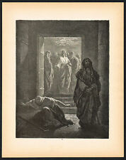 1880s Original Antique Pharisee Tax Collector Dore Art Engraving Print