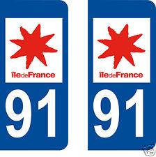 stickers autocollants plaques immatriculation auto Département Essonne 91