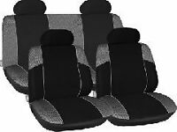 BLACK GREY CAR SEAT COVERS FOR HYUNDAI I10 I20 I30 ATOZ