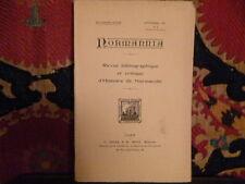 Normannia revue bibliographique et critique d'histoire de Normandie Sept 1931