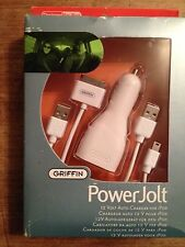 Griffin PoweJolt car charger for ipod Usb to Dock cable Usb to mini Usb cable