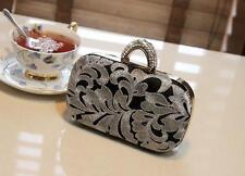 New Fashion Women Bridal Crystal Ring Knuckle Evening Clutch Bag Handbags Purse
