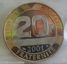 20 francs saint michel 2001 : BE : pièce de monnaie française