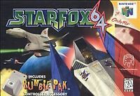 Star Fox Nintendo 64 N64 Video Game Simulation Flight Space War Super Fun Retro