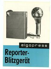ELGAWA Prospekt ELGAPRESS TRANSISTOREN-BLITZGERÄT von 1966 Blitz Broschüre Y1123