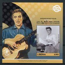 Liberia 2017 MNH Elvis Presley His Life in Stamps 1st Movie 1v S/S IV Music