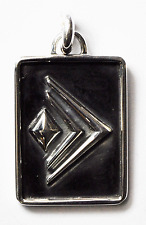 Sterling Silver Silpada Designs Rectangle Dog Tag Pendant 23mm Charm 1.25""