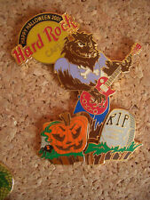 HRC Hard Rock Cafe Tokyo Halloween 2001 Pin Set 3 Pieces was Pumpkin le300