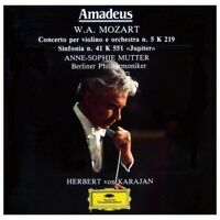 Mozart-Conc. per Violino e Orch. N.5/Sinfonia N.41 Jupiter: Mutter, von Karajan