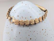 VINTAGE 9ct Rolled Gold Childs Shell Link Bracelet Pat No 670798 Signed P.PLD
