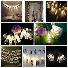 10LED Clip String Lights Christmas New Year Party Photo Peg Home Xmas Decoration