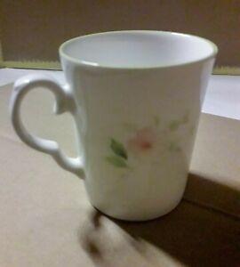 Bone China Mug with pretty floral pattern 9 cm high 7 cm diameter