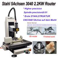 Stahl 5Achsen 3040 2.2KW Router Gravur Fräsen Schneidemaschine für Stahl Metall