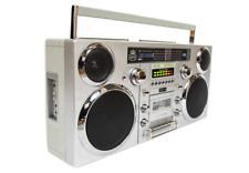 GPO Brooklyn Bluetooth Boombox - Silver