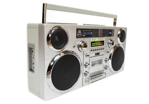 GPO Brooklyn Bluetooth Boombox - Silver