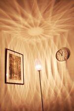 Moderne Bodenleuchte Standlampe Chrom Stehleuchte Bodenlampe lila Standleuchte