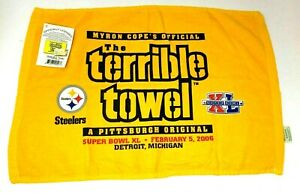 Pittsburgh Steelers Myron Cope's Official Terrible Towel Super Bowl XL 2006 NWT