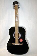 Fender Fa-125 Dreadnought Acoustic Guitar Black Damaged, Broke Neck #R7896