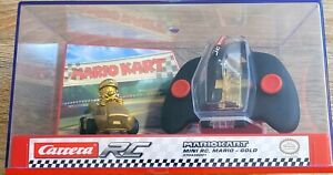 Carrera RC Nintendo Mario Kart Gold Mario Chase Brand New Remote Control Car