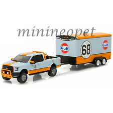 GREENLIGHT 32070B 2016 HITCH & TOW SERIES 7 FORD F-150 AND TRAILER GULF 1/64 #68