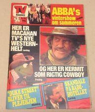 """ABBA Agnetha Fältskog Björn Back Cover Vtg Danish Magazine 1979 """"Se og Hoer"""""""
