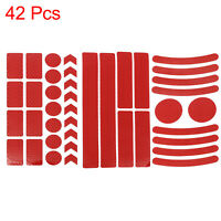 42pcs Red Reflective Safety Warning Strip Tape for Car Bumper