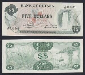 Guyana 5 dollars 1989 FDS-/UNC-  A-05
