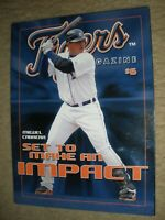 2008 Detroit Tigers Program Magazine Miguel Cabrera Cover Issue #1 NrMT